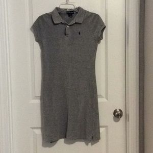 Girl's Ralph Lauren Polo Dress Sz XL Gray Cotton